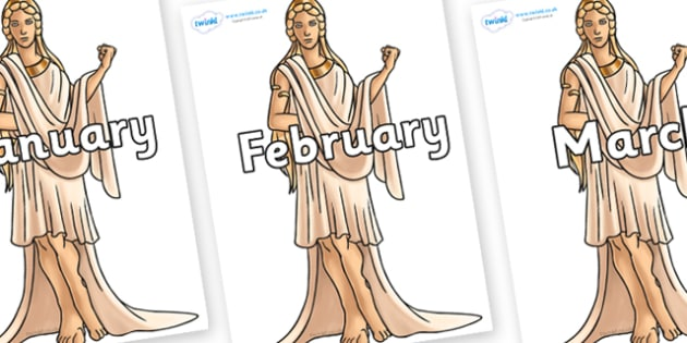 Months of the Year on Hera - Months of the Year, Months poster, Months display, display, poster, frieze, Months, month, January, February, March, April, May, June, July, August, September
