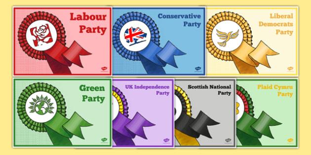 United Kingdom Political Party Poster Pack - british values, politics, uk