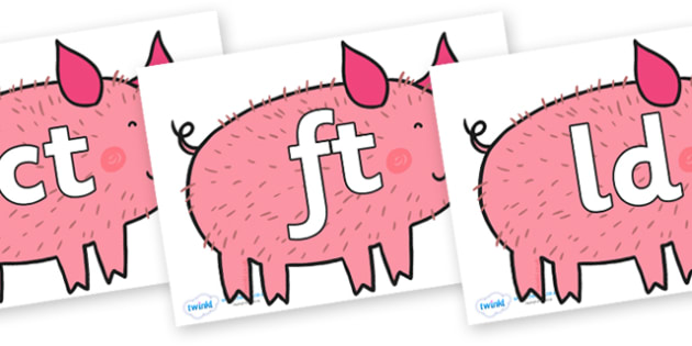 Final Letter Blends on Hairy Hog to Support Teaching on What the Ladybird Heard - Final Letters, final letter, letter blend, letter blends, consonant, consonants, digraph, trigraph, literacy, alphabet, letters, foundation stage literacy