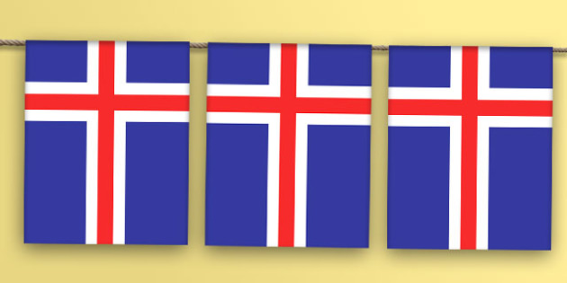 Iceland Flag Bunting - iceland flag, iceland, flag, bunting, display bunting, display