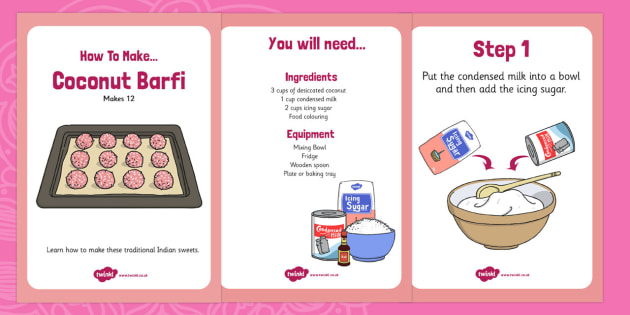 Coconut Barfi Recipe - cooking, recipes, diwali, festivals, cook