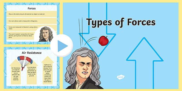 Types of Forces PowerPoint - types of forces, types of forces powerpoint, types of forces slide show, forces and motion, physics, science