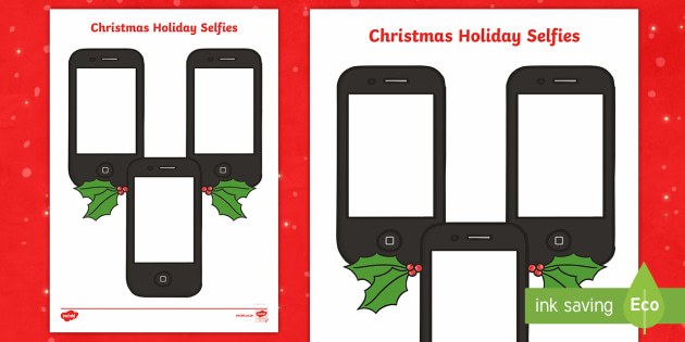 Christmas Holiday Selfies Activity Sheets - christmas, selfies, worksheet