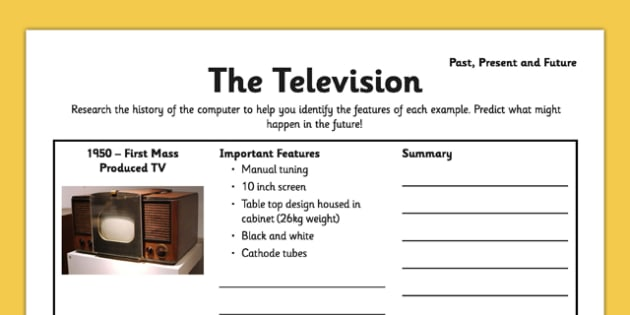 The Television: Past, Present and Future - tube, cathode, television, digital, analogue, satellite