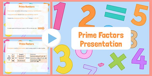 Prime Factors PowerPoint - Key Stage 2, Prime Factors, Prime Numbers, maths