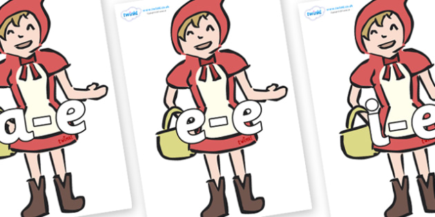 Modifying E Letters on Little Red Riding Hood - Modifying E, letters, modify, Phase 5, Phase five, alternative spellings for phonemes, DfES letters and Sounds
