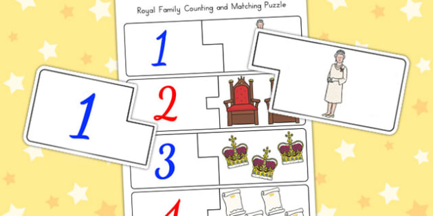 Royal Family Counting Puzzle - queen, counting, count, maths