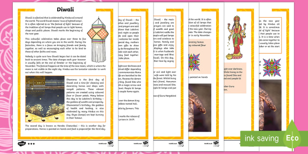 Diwali Differentiated Fact File