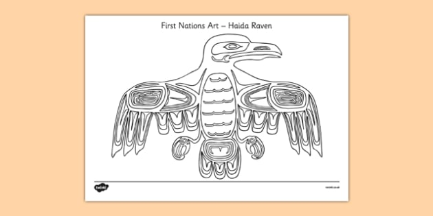 First Nations Art - Haida Raven - first nations, art, first nations art, nation, haida raven