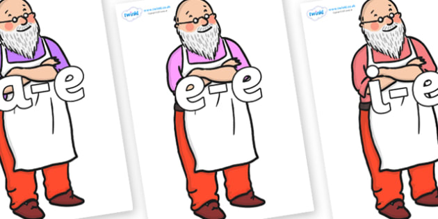 Modifying E Letters on Mr Clause to Support Teaching on The Jolly Christmas Postman - Modifying E, letters, modify, Phase 5, Phase five, alternative spellings for phonemes, DfES letters and Sounds