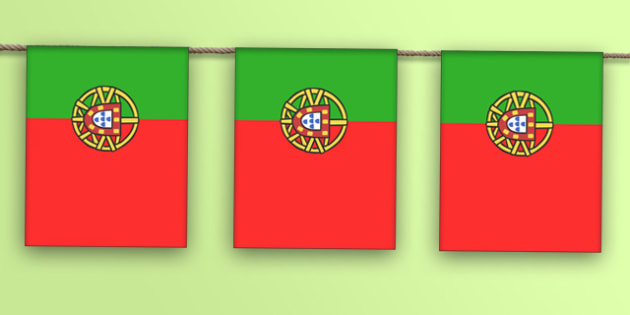 Portugal A4 Flag Bunting - countries, geography, flags, country
