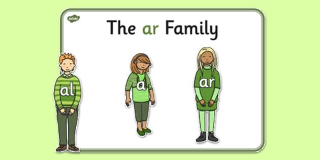 Ar Sound Family Cut Outs - sound families, sounds, cutouts, cut