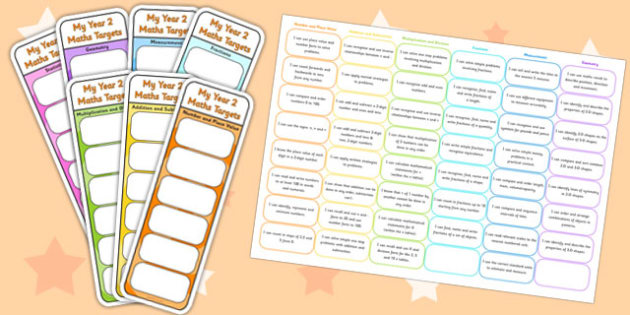 Year 2 Maths Assessment Bookmarks and Cut Outs - math, assessment