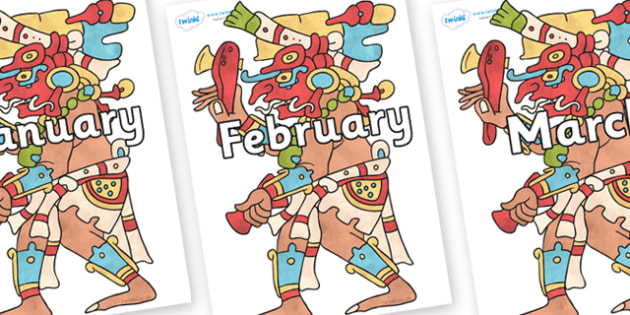 Months of the Year on Chaak - Months of the Year, Months poster, Months display, display, poster, frieze, Months, month, January, February, March, April, May, June, July, August, September