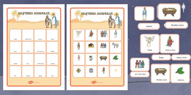 Joc de asociere, Nasterea Domnului - joc de memorie, cartonase imagini, text
