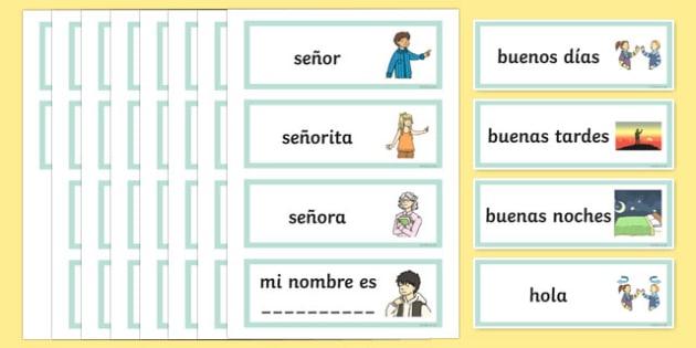Tarjetas de vocabulario de saludos y conocerse - tarjetas, saludos, vocabulario, conocerse