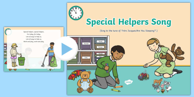 Special Helpers Song PowerPoint