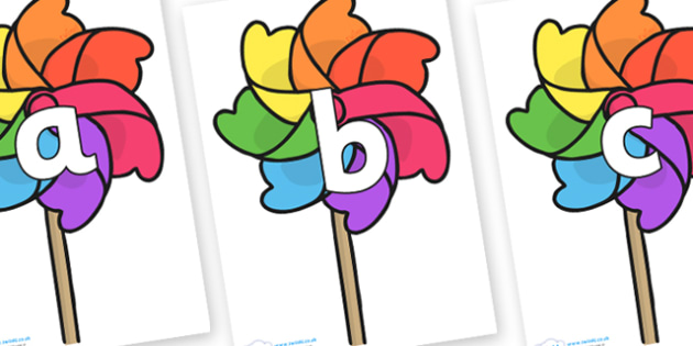 Phoneme Set on Beach Windmills - Phoneme set, phonemes, phoneme, Letters and Sounds, DfES, display, Phase 1, Phase 2, Phase 3, Phase 5, Foundation, Literacy