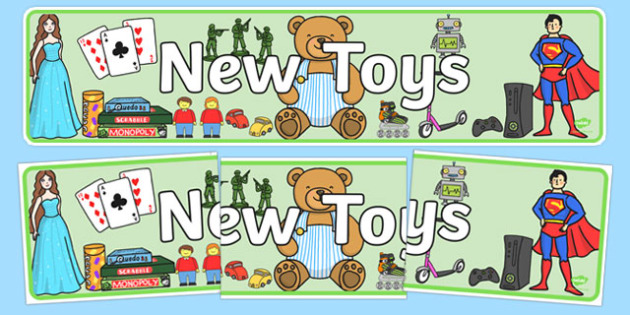 New Toys Display Banner - new toys, display, banner, toys, new