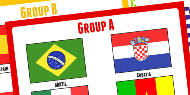 World Cup 2014 Group Posters - football, sports, display, pe