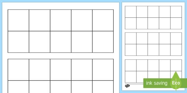 Blank Ten Frame Activity Sheet - Ten frame, place value, number bonds, ten, number, worksheet