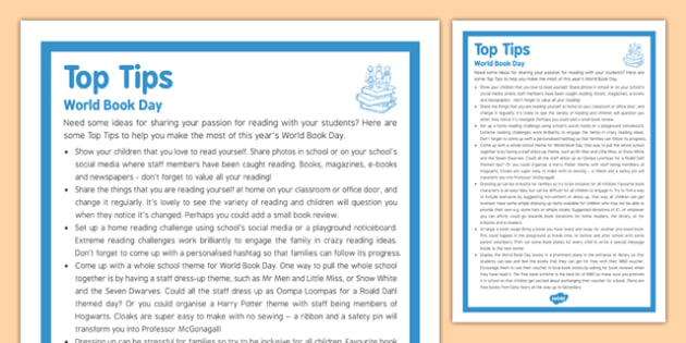 Top Tips for World Book Day - top tips, world book day, top, tips