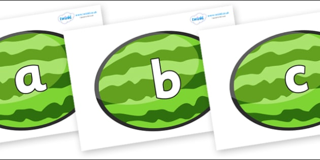 Phoneme Set on Melons (Horizontal) - Phoneme set, phonemes, phoneme, Letters and Sounds, DfES, display, Phase 1, Phase 2, Phase 3, Phase 5, Foundation, Literacy