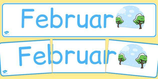Februar Display Banner German - german, february, display banner, display, banner