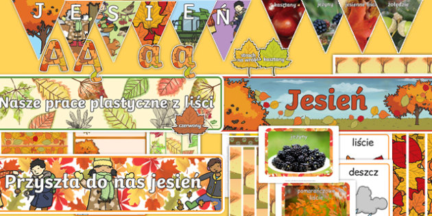 Autumn Topic Display Pack Polish-Polish