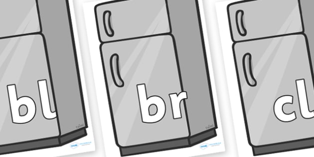 Initial Letter Blends on Fridges - Initial Letters, initial letter, letter blend, letter blends, consonant, consonants, digraph, trigraph, literacy, alphabet, letters, foundation stage literacy