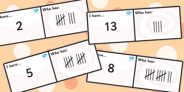 Tallies Loop Cards - tally, data, data analysis, card, visual aid