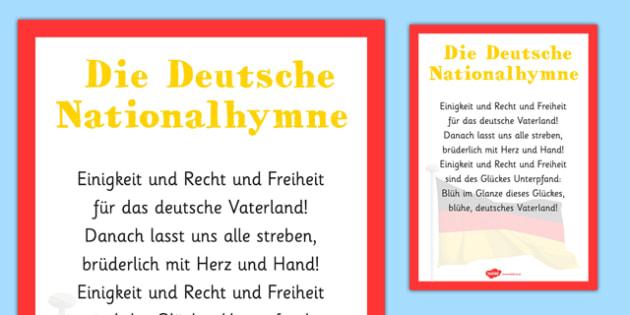 Die Deutsche Nationalhymne - german, die deutsche nationalhymne, national anthem, german national anthem, lyrics