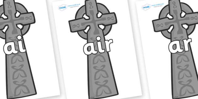 Phase 3 Phonemes on Celtic Cross - Phonemes, phoneme, Phase 3, Phase three, Foundation, Literacy, Letters and Sounds, DfES, display