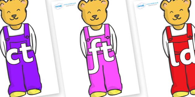 Final Letter Blends on Bears to Support Teaching on Whatever Next! - Final Letters, final letter, letter blend, letter blends, consonant, consonants, digraph, trigraph, literacy, alphabet, letters, foundation stage literacy