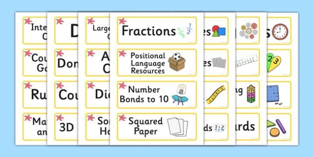Starfish Themed Editable Maths Area Resource Labels - Themed maths resource labels, maths area resources, Label template, Resource Label, Name Labels, Editable Labels, Drawer Labels, KS1 Labels, Foundation Labels, Foundation Stage Labels, Teaching La