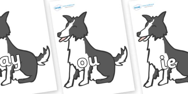 Phase 5 Phonemes on Sheep Dogs - Phonemes, phoneme, Phase 5, Phase five, Foundation, Literacy, Letters and Sounds, DfES, display