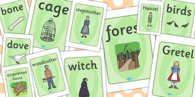 Hansel and Gretel Display Posters - Hansel and Gretel, Brothers Grimm, witch, Hansel, Gretel, gingerbread house, fairytale, traditional tale, woodcutter, forest, story, story sequencing, story resources, Display Posters, A4, display, posters,