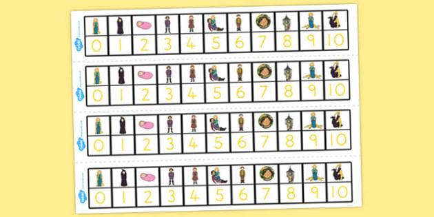 Rapunzel Number Track 0-10 - australia, rapunzel, number track, 0-10