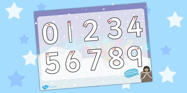 Polar Regions Themed Number Formation Activity Sheet- polar, number