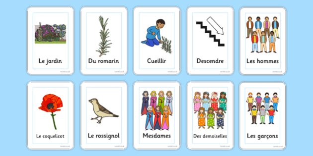 Flashcards Gentil Coquelicot French - french, flashcards, gentil coquelicot, song