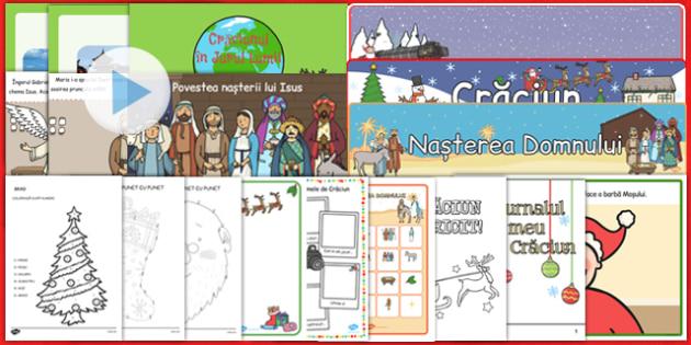 Pachet materiale materiale pentru Craciun - Crăciun, sărbători de iarnă, iarna, sarbatori, fise, materiale iarna