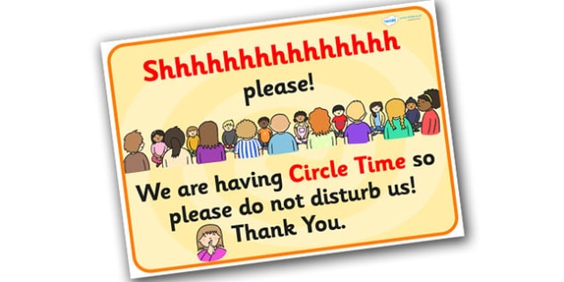 Do Not Disturb Circle Time Classroom Sign - do not disturb sign, do not disturb door sign, circle time display poster, please be quiet poster, circle time