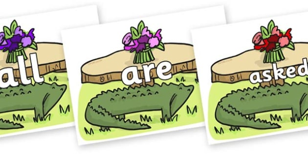 Tricky Words on Trick Four to Support Teaching on The Enormous Crocodile - Tricky words, DfES Letters and Sounds, Letters and sounds, display, words