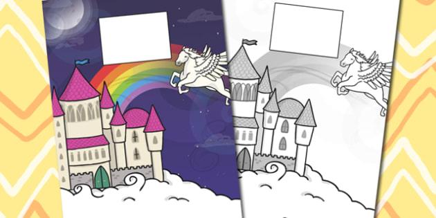 Fairytale Themed Calendar Template - calendar, fairy tale, year