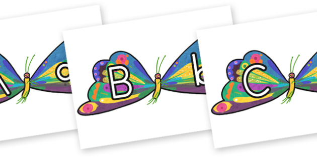 Butterfly A-Z Posters to Support Teaching on The Very Hungry Caterpillar - australia