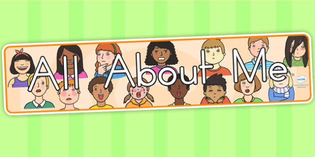 All About Me Display Banner - all about me, ourselves, banner