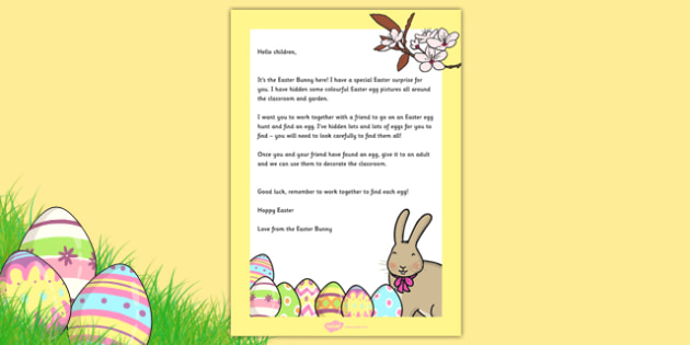 Letter From the Easter Bunny - EYFS, Early Years, Easter, Easter Bunny, Easter Egg hunt