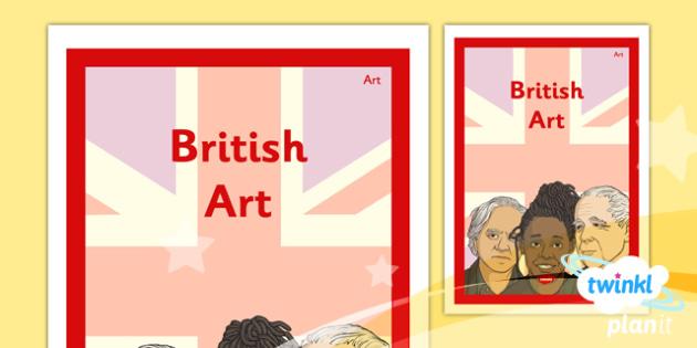 PlanIt - Art LKS2 - British Art Unit Book Cover - planit, book cover, art and design, art, lks2, british art