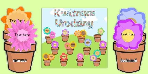 Zestaw Kwitnące urodziny po polsku