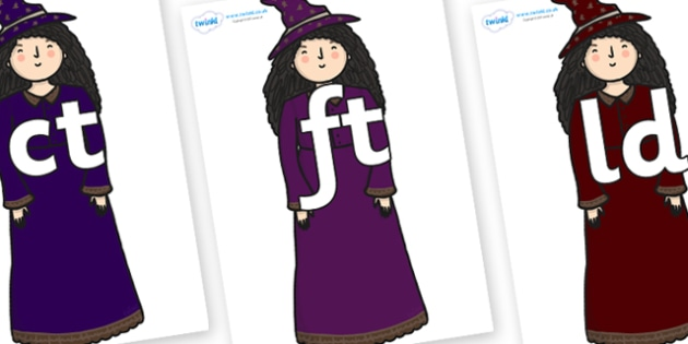 Final Letter Blends on Witch - Final Letters, final letter, letter blend, letter blends, consonant, consonants, digraph, trigraph, literacy, alphabet, letters, foundation stage literacy